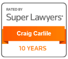 Rated by super lawyers - craig carlile