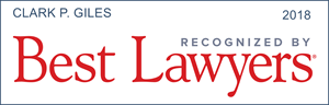 best lawyers recognition clark p. giles