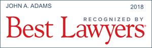 best lawyers recognition john a. adams
