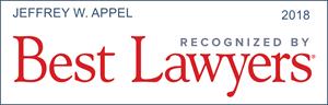 best lawyers recognition jeffrey w. appel