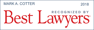 best lawyers recognition mark a. cotter