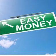 easy money road sign