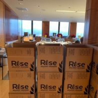 boxes stacked in office