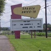 sparta drive-in sign