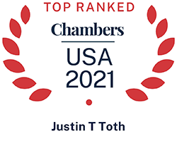 Justin Toth, Top Ranked Chambers USA 2021