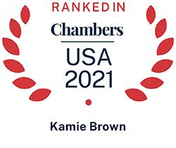 Kamie Brown, Top Ranked Chambers USA 2021
