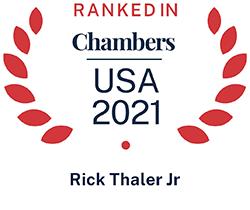Rick Thaler Junior, Top Ranked Chambers USA 2021